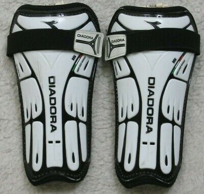 Diadora Ultimate Black White Soccer Shin Guards Large 5'3