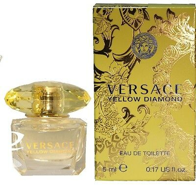 Mini Miniature Versace Yellow Diamond Woman Travel Perfume 5ml EDT