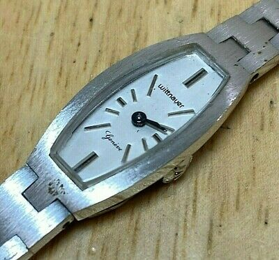 Vintage Wittnauer Geneve By Longines Lady Barrel Hand-Wind Mechanical Watch Hour