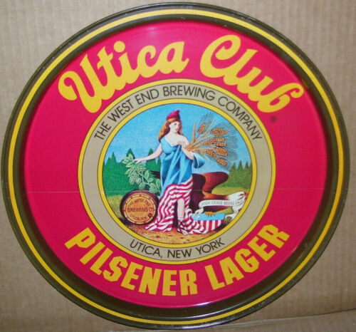 Vintage Utica Club Pilsner Lager Beer Utica NY Tin Serving Tray