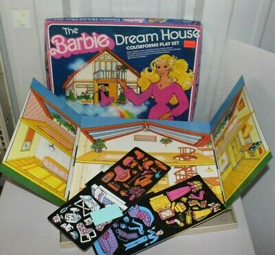 Vintage Barbie Dream House Colorforms Play Set In Box - W/ Inserts