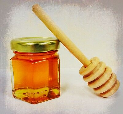 24 Qty Mini Honey Jars With Dippers For Wedding or Baby Shower