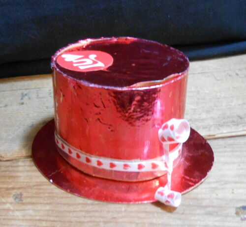 Vintage Valentine Hat Candy Container, Japan