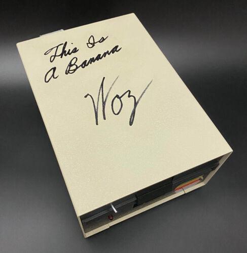 "Steve Woz Wozniak SIGNED Apple II 5.25"" Floppy Disk Drive Rep + INSC AUTOGRAPHED"