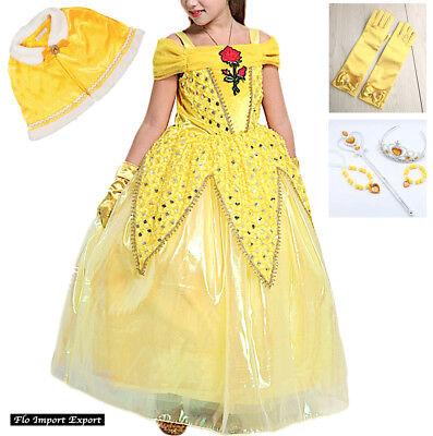 La bella Und die Bestie Karnevalkleid Maske schön Cosplay Mädchen Kleid -