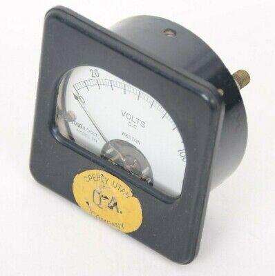 Vintage Weston Direct Current Volts Panel Meter Gauge 0-100 Model 301 1000volt