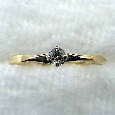 - Diamond Baby Keepsake Ring, Hand Crafted 14k Yellow Gold, April Birthstone