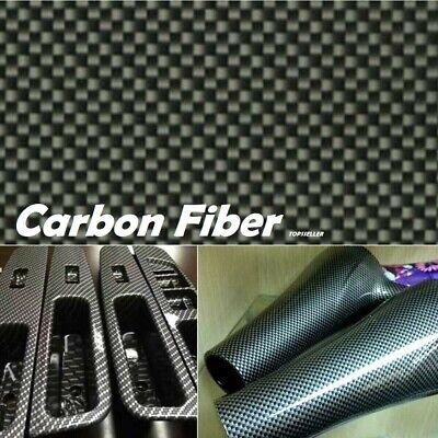 Black Carbon Fiber Water Transfer Dipping Hydrographics Hydro Film 100x50cm Us