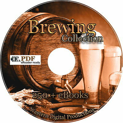 $9.99 - 250+ Books How to Brew Make Beer Moonshine Wine Home Ultimate Brewing Collection
