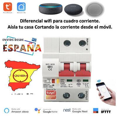 Diferencial eléctrico WIFI, domótica, Disyuntor inteligente, asistente hogar. 32