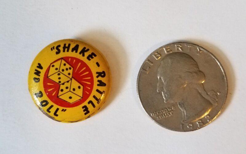 "Elvis  - Green Duck Button - 7/8""  Shake, Rattle & Roll - Near Mint - Rare"
