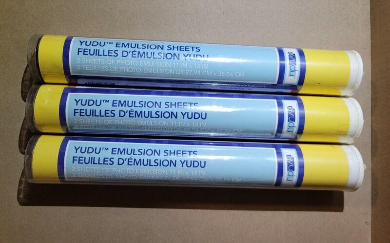 "NEW YUDU Emulsion Sheets 6 Sheets - 11""x14"" DIY Style Screen Printing Sealed"
