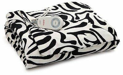 SOLD OUT Sunbeam ZEBRA Imperial Plush ULTRA SOFT Heated Throw Blanket Electric