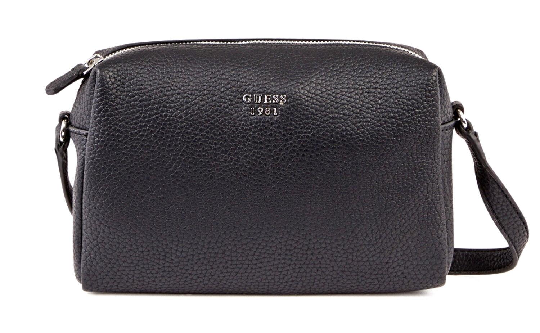 9487a452b3 Guess Flora Mini Crossbody Top Zip Black, Women's Bag Shoulder Bag Handbag