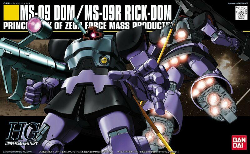Gundam Mobile Suit Gundam HGUC #059 MS-09 Dom / Rick Dom HG 1/144 Model Kit USA