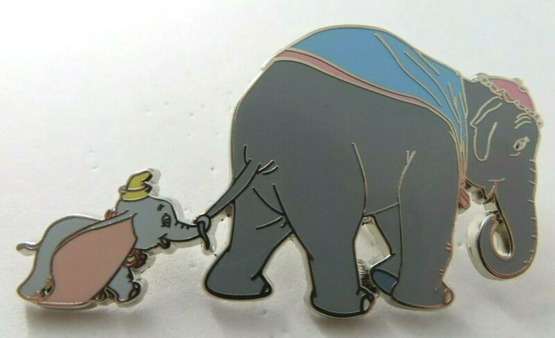 Disney Pin ACME Classic Cutout Dumbo with Mother Silver LE 500 AP #130273