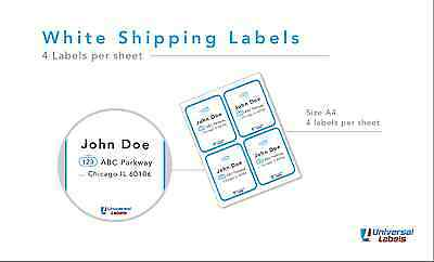 1200 Stamps.com Sdc-4650 Compatible Address Labels - Laser And Ink Jet Sheets
