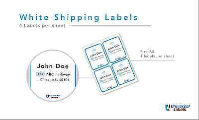 400 Stamps.com Sdc-4650 Compatible Address Labels - Laser And Ink Jet Sheets