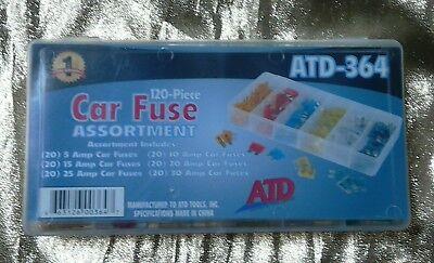 ATD Tools 364 120-Piece Car Fuse (120 Piece Car Fuse)