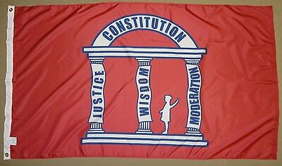 Used, Georgia GA State 1861 Guard Indoor Outdoor Historical Dyed Nylon Flag 3' X 5' for sale  Shipping to Canada