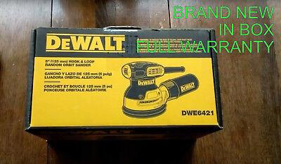 DeWalt DWE6421K 3 Amp 5 in. Corded Random Orbital Hook and Loop Sander