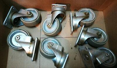 Lot Of 7 Colson Rigid Plate Caster Wheel Polyurethane 3 12 Free Shipping