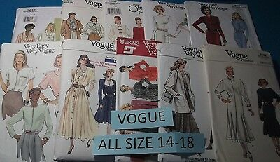 Vogue Patterns ~ All Patterns are Size 14-18 ~ ~ ~ Listing (Vogue List)