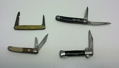 VINTAGE LOT OF OLD POCKET FOLDING KNIVES K-6-74 COLONIAL SCHRADE CUT CO IMPERIAL