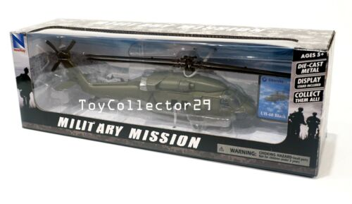 Helicopter Model Sikorsky UH-60 Black Hawk 1/60 scale Diecast Military Mission