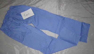 UA Scrub Women Cargo Drawstring Scrub Pant 6 Pocket Ceil Blue Style 7232 SMALL ()