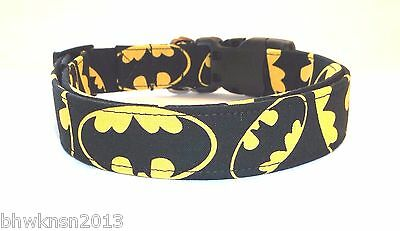 Batman Super Hero Terri's Dog Collar hand made adjustable charming Dark Knight
