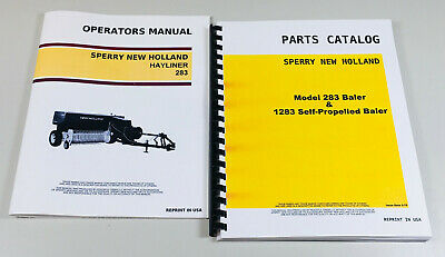 Set Sperry New Holland 283 Hayliner Baler Owners Operators Parts Manual Catalog
