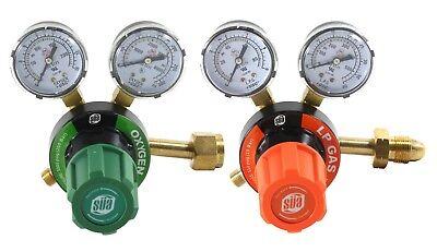 Sa Oxygen And Propanepropylene Regulators Combo - Welding Gauges - V350 Series
