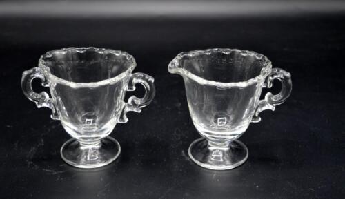 Vintage Fostoria Cream and Sugar Bowl Set - Century Pattern