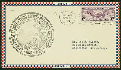 1931 First Flight Twin Cities   Pembina Extension   Route Am 9   C12   Esp 1458
