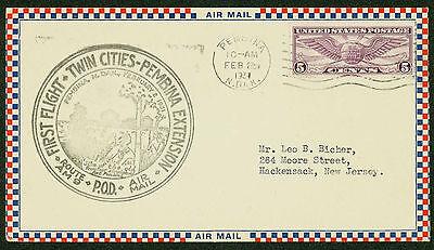 1931 First Flight Twin Cities   Pembina Extension   Route Am 9   C12   Esp 1458