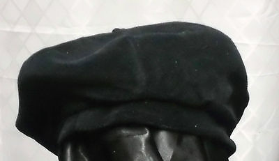 Womans Velour Fleece Beanie Beret Hat Cap Lined Size 57CM / 7 / M