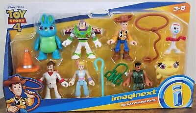 Disney Toy Story 4 Imaginext Deluxe Figure Pack Buzz Lightyear Woody Ducky Forky