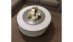 Round tempered glass tiered coffee table Centennial Park Eastern Suburbs Preview