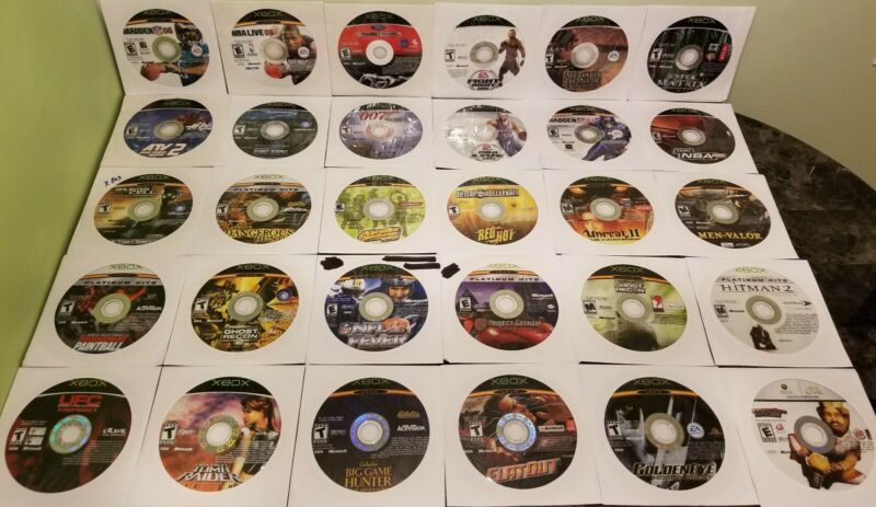 Microsoft Xbox Disk Lot (30) Clean! No Dupes!