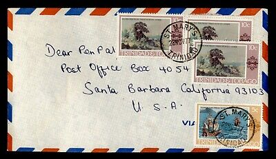 DR WHO 1977 TRINIDAD & TOBAGO ST MARY'S AIRMAIL TO USA C244043