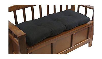 """Klear Vu The Gripper Non-Slip Tufted Omega Universal Bench Cushion, 36"""", Midn..."""