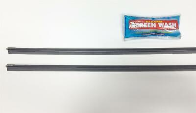 New Pair Of Refills - Quality Rubber For Wiper Blades - Pack Of Two & Screenwash