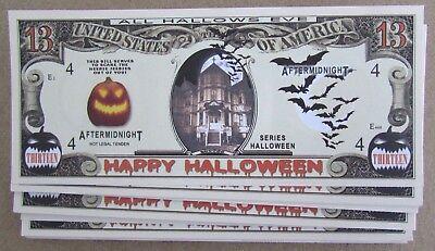 25 HALLOWEEN MONEY NOVELTY FAKE WHOLESALE LOT USA 13 DOLLAR BILLS](Fake Halloween Money)