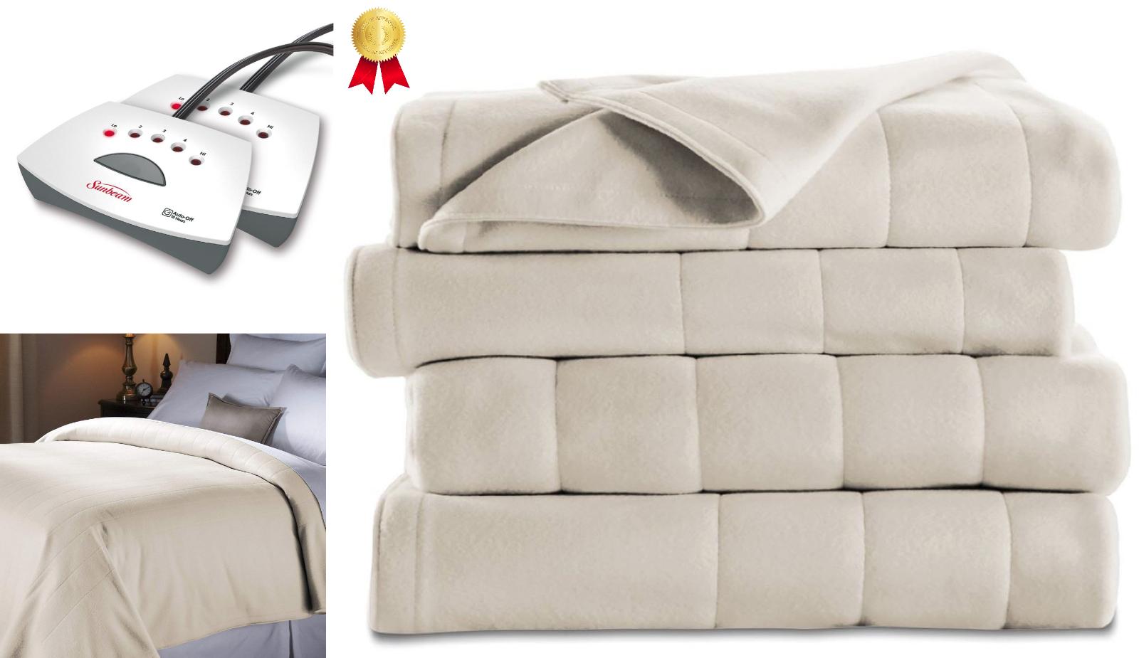 Queen Size Electric Heated Fleece Blanket Cozy Warm Extra So