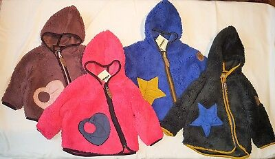 Racoon Fleece Jacke BABY TEDDY Jungen & Mädchen Gr. 74 80 86 92 Winterjacke Baby Winter Jacke