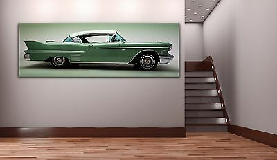 Cadillac Classic Car - Cadillac Classic Car Panoramic Picture Canvas Print Home Decor Wall Art