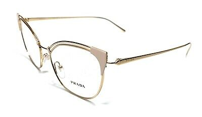 Prada VPR 62U YDD-1O1 Ivory Gold Women's Authentic Eyeglasses Frame 51-17