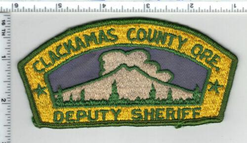 Clackamas County Deputy Sheriff (Oregon) Uniform Take Off Shoulder Patch 1980