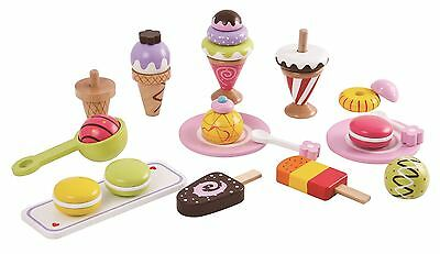 Lelin Wooden 25 Pieces Ice Cream Selection Pretend Play Set